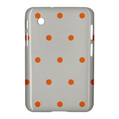 Diamond Polka Dot Grey Orange Circle Spot Samsung Galaxy Tab 2 (7 ) P3100 Hardshell Case  by Mariart