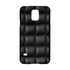 Black Cell Leather Retro Car Seat Textures Samsung Galaxy S5 Hardshell Case  by Nexatart