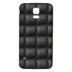 Black Cell Leather Retro Car Seat Textures Samsung Galaxy S5 Back Case (white) by Nexatart