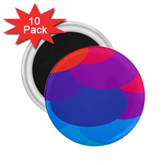 Circles Colorful Balloon Circle Purple Blue Red Orange 2 25  Magnets (10 Pack)  by Mariart