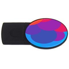 Circles Colorful Balloon Circle Purple Blue Red Orange Usb Flash Drive Oval (2 Gb) by Mariart