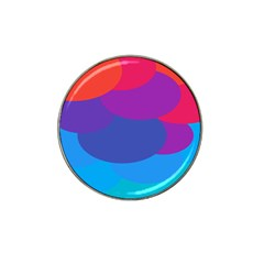 Circles Colorful Balloon Circle Purple Blue Red Orange Hat Clip Ball Marker (10 Pack) by Mariart