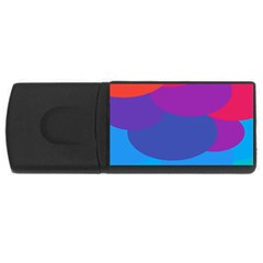 Circles Colorful Balloon Circle Purple Blue Red Orange Usb Flash Drive Rectangular (4 Gb) by Mariart