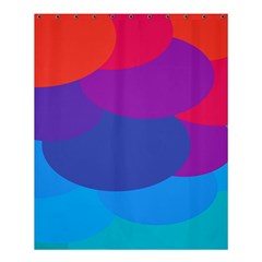 Circles Colorful Balloon Circle Purple Blue Red Orange Shower Curtain 60  X 72  (medium)  by Mariart