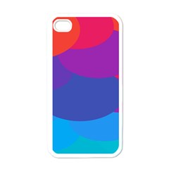 Circles Colorful Balloon Circle Purple Blue Red Orange Apple Iphone 4 Case (white)