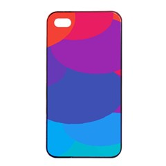 Circles Colorful Balloon Circle Purple Blue Red Orange Apple Iphone 4/4s Seamless Case (black) by Mariart
