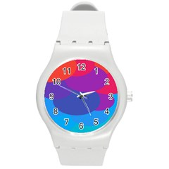 Circles Colorful Balloon Circle Purple Blue Red Orange Round Plastic Sport Watch (m) by Mariart