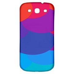Circles Colorful Balloon Circle Purple Blue Red Orange Samsung Galaxy S3 S Iii Classic Hardshell Back Case by Mariart