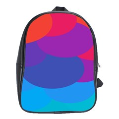 Circles Colorful Balloon Circle Purple Blue Red Orange School Bags (xl)  by Mariart