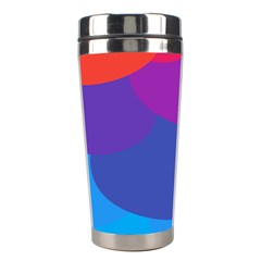 Circles Colorful Balloon Circle Purple Blue Red Orange Stainless Steel Travel Tumblers by Mariart