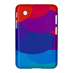 Circles Colorful Balloon Circle Purple Blue Red Orange Samsung Galaxy Tab 2 (7 ) P3100 Hardshell Case  by Mariart