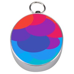 Circles Colorful Balloon Circle Purple Blue Red Orange Silver Compasses by Mariart