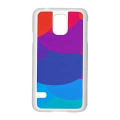 Circles Colorful Balloon Circle Purple Blue Red Orange Samsung Galaxy S5 Case (white) by Mariart