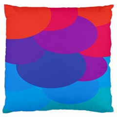 Circles Colorful Balloon Circle Purple Blue Red Orange Large Flano Cushion Case (one Side) by Mariart