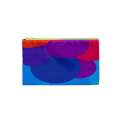 Circles Colorful Balloon Circle Purple Blue Red Orange Cosmetic Bag (xs) by Mariart