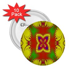 Digital Color Ornament 2 25  Buttons (10 Pack)  by Nexatart