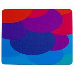 Circles Colorful Balloon Circle Purple Blue Red Orange Jigsaw Puzzle Photo Stand (rectangular) by Mariart