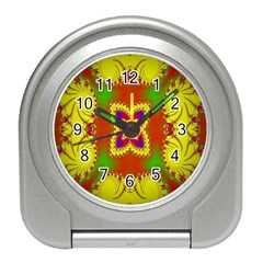Digital Color Ornament Travel Alarm Clocks by Nexatart