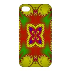 Digital Color Ornament Apple Iphone 4/4s Premium Hardshell Case