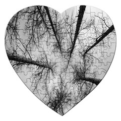 Trees Without Leaves Jigsaw Puzzle (heart) by Nexatart