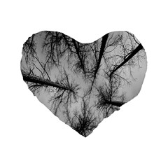 Trees Without Leaves Standard 16  Premium Flano Heart Shape Cushions by Nexatart