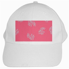 Branch Berries Seamless Red Grey Pink White Cap by Mariart