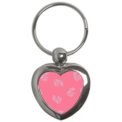 Branch Berries Seamless Red Grey Pink Key Chains (heart)