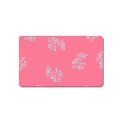Branch Berries Seamless Red Grey Pink Magnet (name Card) by Mariart