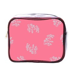 Branch Berries Seamless Red Grey Pink Mini Toiletries Bags by Mariart