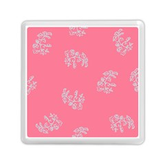 Branch Berries Seamless Red Grey Pink Memory Card Reader (square)  by Mariart