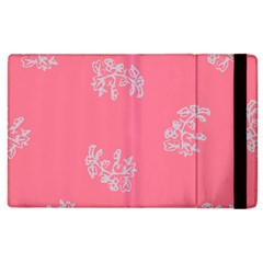Branch Berries Seamless Red Grey Pink Apple Ipad 2 Flip Case by Mariart