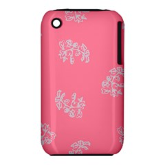 Branch Berries Seamless Red Grey Pink Iphone 3s/3gs by Mariart