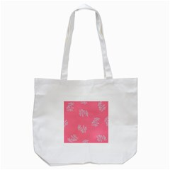 Branch Berries Seamless Red Grey Pink Tote Bag (white) by Mariart