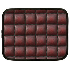 Red Cell Leather Retro Car Seat Textures Netbook Case (large) by Nexatart
