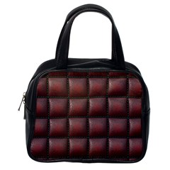 Red Cell Leather Retro Car Seat Textures Classic Handbags (one Side)