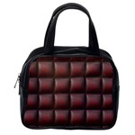 Red Cell Leather Retro Car Seat Textures Classic Handbags (One Side) Front