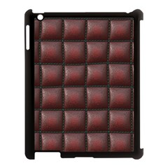 Red Cell Leather Retro Car Seat Textures Apple Ipad 3/4 Case (black)
