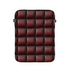 Red Cell Leather Retro Car Seat Textures Apple Ipad 2/3/4 Protective Soft Cases