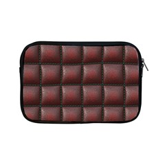 Red Cell Leather Retro Car Seat Textures Apple Ipad Mini Zipper Cases by Nexatart