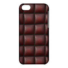 Red Cell Leather Retro Car Seat Textures Apple Iphone 5c Hardshell Case by Nexatart