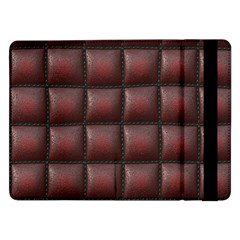 Red Cell Leather Retro Car Seat Textures Samsung Galaxy Tab Pro 12 2  Flip Case by Nexatart