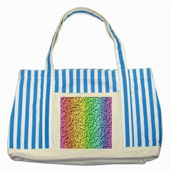 A Creative Colorful Background Striped Blue Tote Bag by Nexatart