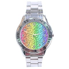 A Creative Colorful Background Stainless Steel Analogue Watch