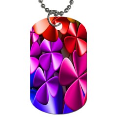 Colorful Flower Floral Rainbow Dog Tag (one Side) by Mariart