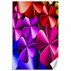 Colorful Flower Floral Rainbow Canvas 24  X 36  by Mariart