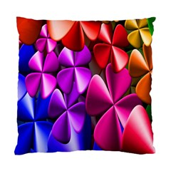 Colorful Flower Floral Rainbow Standard Cushion Case (two Sides) by Mariart