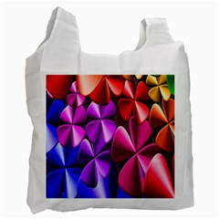 Colorful Flower Floral Rainbow Recycle Bag (one Side) by Mariart