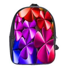 Colorful Flower Floral Rainbow School Bags(large)