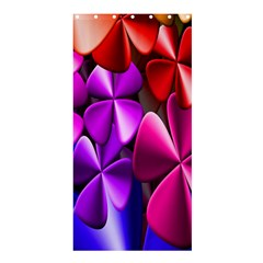 Colorful Flower Floral Rainbow Shower Curtain 36  X 72  (stall)  by Mariart