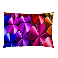 Colorful Flower Floral Rainbow Pillow Case (two Sides) by Mariart